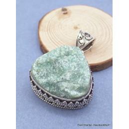 Pendentif Fuchsite brute style vintage Pendentifs pierres naturelles RV8.3