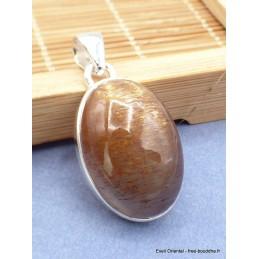 Pendentif Pierre du Soleil Noire oval Pendentifs pierres naturelles RV49.3
