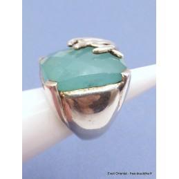 Grosse bague Filaments en Calcédoine d'eau T 55/56 Bagues pierres naturelles v 34