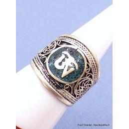 Bague tibétaine Om pierres fantaisie Bijoux tibetains bouddhistes  ref107.5