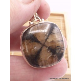 Pendentif carré Chiastolite Andalousite Pendentifs pierres naturelles TA22.5