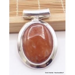 Pendentif en Agate dorée bélière tube Pendentifs pierres naturelles TA17.4