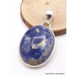 Pendentif Sodalite bleue ovale Pendentifs pierres naturelles TA3.2