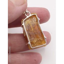 Cyanite Orange brute pendentif Pendentifs pierres naturelles CZ57.1