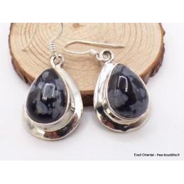Boucles d'oreilles Obsidienne floconneuse Bijoux en Obsidienne Floconneuse KB1.34
