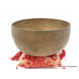 Véritable bol tibétain ancien double paroi 15,2 cm BOLDF67
