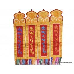 Tenture tibétaine Manjushri bordée main Tentures tibétaines Bouddha MAN12