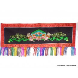 Tenture tibétaine Mahakala Noire verte NMAHA4