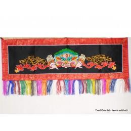 Tenture tibétaine Mahakala Noire et rouge NMAHA5