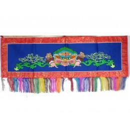 Tenture tibétaine Mahakala Bleue rouge NMAHA6