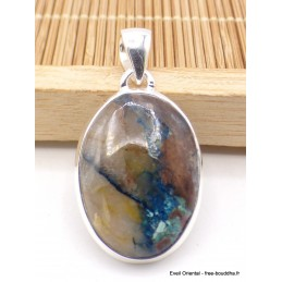 Pendentif Quantum Quattro bleu turquoise oval Pendentifs pierres naturelles XV2.12