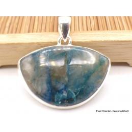 Pendentif Quantum Quattro bleu semi-oval Pendentifs pierres naturelles XV2.14