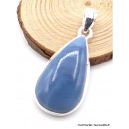 Pendentif Opale bleue Owyhee forme goutte Pendentifs pierres naturelles XV35.6