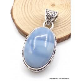 Pendentif Opale bleue Owyhee style vintage Pendentifs pierres naturelles XV35.7