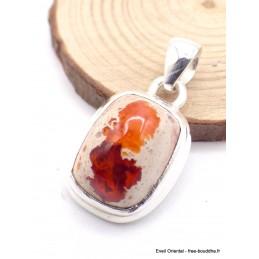 Pendentif Opale mexicaine Opale de feu orange Pendentifs pierres naturelles XV30.6