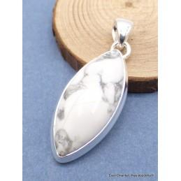 Pendentif Howlite blanche forme marquise Pendentifs pierres naturelles XV20.5