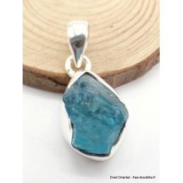 Petit Pendentif en Apatite bleu néon serti clos Pendentifs pierres naturelles XV28.8