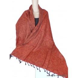 Châle ethnique laine de Yak ocre rouille Nos Châles CPLY124