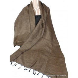 Châle ethnique laine de Yak café CPLY127