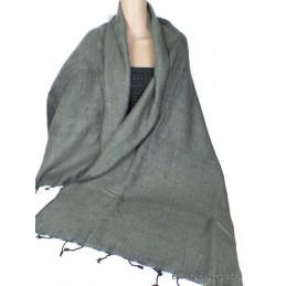 Châle ethnique laine de Yak gris jaune CPLY130