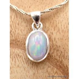 Pendentif Opale Ethiopienne cabochon rose verte Pendentifs pierres naturelles AW3