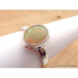 Bague Opale Ethiopienne facettée orange verte taille 56/57 Bijoux en Opales AW4.1