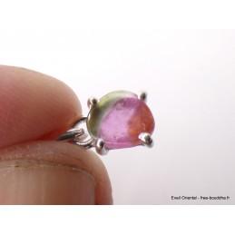 Pendentif Tourmaline Melon d'eau facettée rose verte Pendentifs pierres naturelles XV18.2