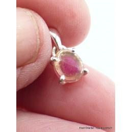 Pendentif Tourmaline Melon d'eau facettée rose Pendentifs pierres naturelles XV18.3