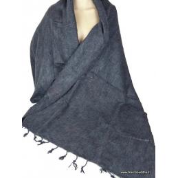 Châle népalais laine de Yak gris foncé Pashminas Etoles Echarpes CPLY30