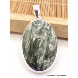 Pendentif oval en Séraphinite Pendentifs pierres naturelles AW8.2