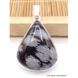 Pendentif goutte Obsidienne Flocons de neige Pendentifs pierres naturelles AW9.1