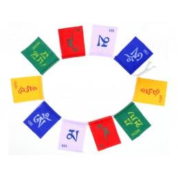 10 Drapeaux de prières OM MANI PEDME HUM 10 X 7 CM Drapeaux tibétains OM5