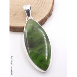 Pendentif en Jade Néphrite forme marquise Pendentifs pierres naturelles AW10