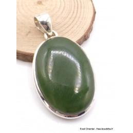 Pendentif en Jade Néphrite forme ovale Pendentifs pierres naturelles AW10.1