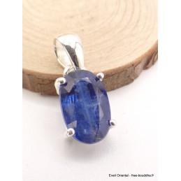Pendentif Cyanite bleue facetté oval Pendentifs pierres naturelles AW19