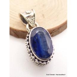 Pendentif Cyanite bleue facetté style art déco Pendentifs pierres naturelles AW19.1