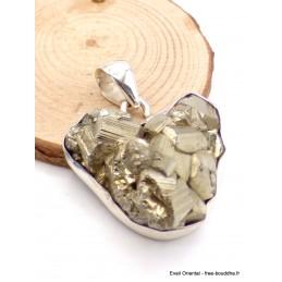 Pendentif Pyrite brute dorée forme coeur Pendentifs pierres naturelles AW20.1