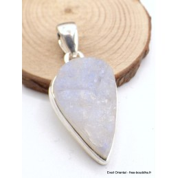 Pendentif en Pierre de lune bleue brute forme goutte Pendentifs pierres naturelles AW23.1