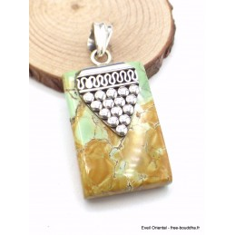 Pendentif en Variscite australienne motif grappe Pendentifs pierres naturelles AB37