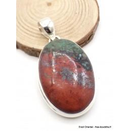 Pendentif en Cuprite Jaspe Sonora oval Pendentifs pierres naturelles AW30