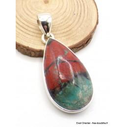 Pendentif en Cuprite Jaspe Sonora forme goutte Pendentifs pierres naturelles AW30.1