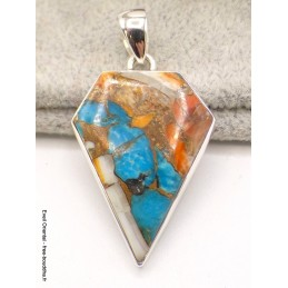 Pendentif Turquoise Spiny Oyster losange Bijoux en Turquoise Spiny Oyster AW36.1