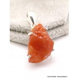 Pendentif Opale de feu brute serti griffes Pendentifs pierres naturelles AW46.1