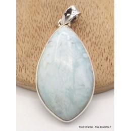 Pendentif argent Aragonite bleue Pendentifs pierres naturelles AW47