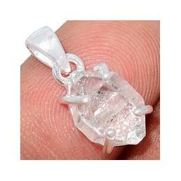 Pendentif diamant d'Herkimer serti griffes Pendentifs pierres naturelles AW55