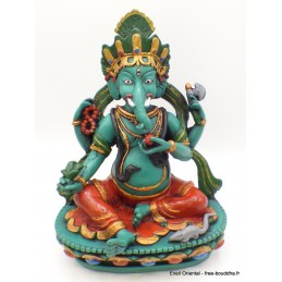 Statuette Ganesh peinte à la main 21 cm Statuettes Bouddhistes GANESH4