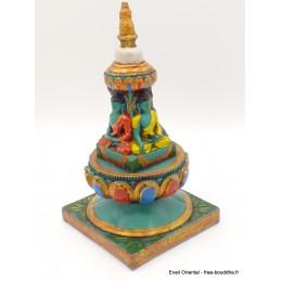 Stupa tibétain 4 Buddhas 15 cm Stupas, temples tibétains STUPAN8