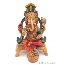 Statuette Ganesh rouge assis Statuettes Bouddhistes STAGAN3