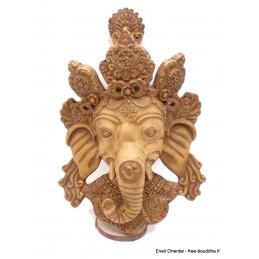 Petite statuette masque mural Ganesh 21 cm Statuettes Bouddhistes PGAN3