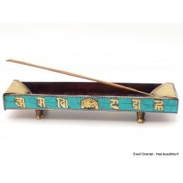 Porte encens tibétain cuivre et turquoise Brûleurs et porte-encens NPE1